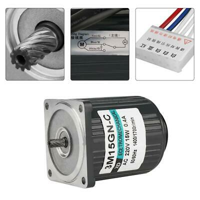 220V AC 15W Large Moment of Force Low Speed Metal Gear Motor CW/CCW High Quality