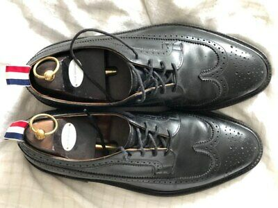 8544e776c1a THOM BROWNE BLACK Pebbled Leather Brogue Mens Shoes Made In England ...
