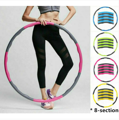 HULA HOOP FITNESS EXERCISE ABS WORKOUT GYM PROFESSIONAL WEIGHTED Kids Adult