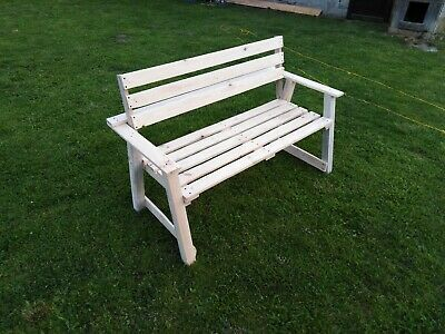 Wooden Garden Bench Seater Outdoor Patio Park Seating Wood Home Furniture Seat
