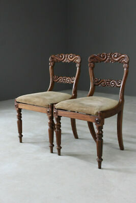 Pair Early 19th Century Dining Antique Mahogany Chairs