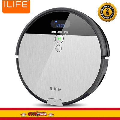 ILIFE V8S Smart Aspiradora Robot LCD Display 6 Modos Limpieza Cleaner Limpiador
