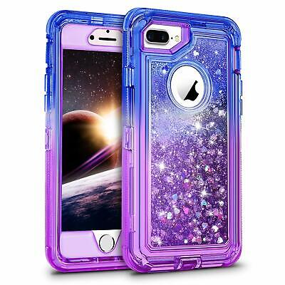 Glitter Liquid  Defender Case Shockproof Cover For iPhone 6/7/8/X/XR/XS MAX Plus