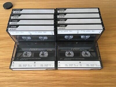 TDK AD 120 - 10 Tapes Bundle - Audio Cassette Tape - 120 Mins -Archive Clearance