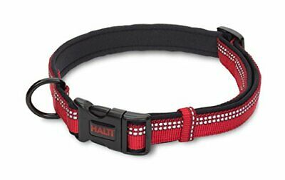 HALTI Premium Reflective Dog Collar, Large, Red