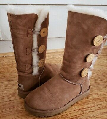 8509b05d256 WOMEN'S SHOES UGG Bailey Bow Tall II 1016434 Chestnut *New ...