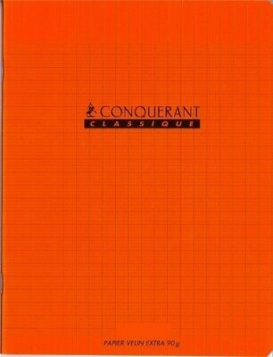 Cahier 24x32 - 48 pages - Séyès - Polypro  - Orange