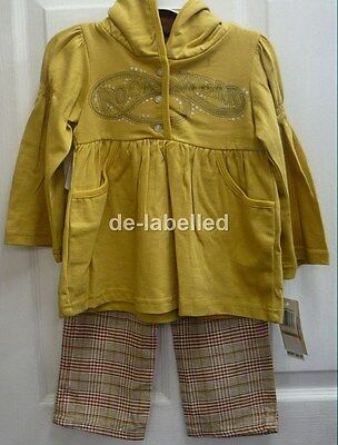 Girls Rocawear Gold Hooded Top and Trouser Set Outfit Cute NWT Sizes 2T 3T 4T