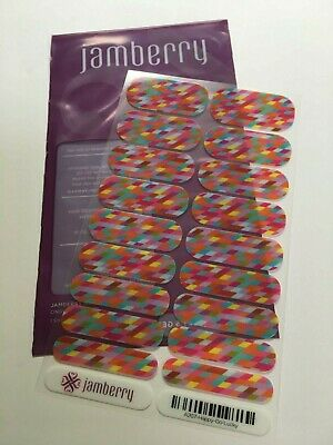 Jamberry Nail Wraps Full Sheet Happy Go Lucky - A207 - Retired