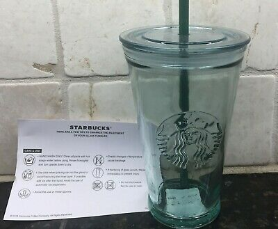 Starbucks Siren Mermaid Reusable Recycled Glass Cold Cup Tumbler Grande 16 oz