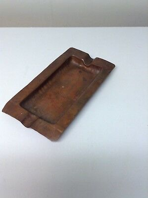 Craftsmen Inc. Hand Made Hammered Copper Ashtray #930