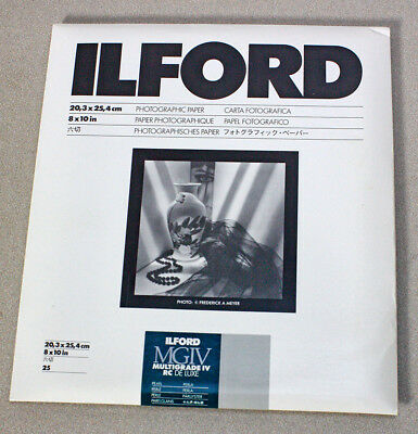 Unopened Pack 8X10 Ilford Multigrade Iv Rc De Luxe Photo Paper