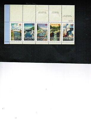 CANADA 1998 CANALS  Book #208 with 10 FULL PANE  cat $30. #1725-34 BK 421