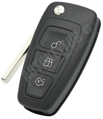 3 Button Flip Remote Key Fob Case For Ford S,C-Max, Focus, Galaxy, Mondeo For03