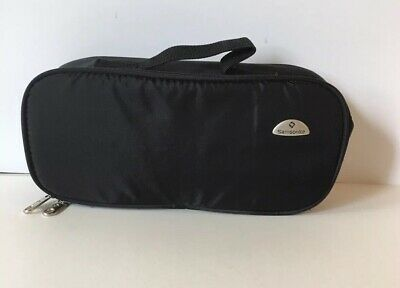 Samsonite Black Padded Pouch Rectangle Zipper Travel Pouch Fits Inside Luggage