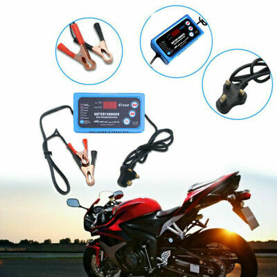 Automatic Car Motorcycle Battery Charger Fast Power Charging 6V 12V 6A UK Plug