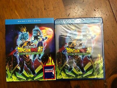 Dragon Ball Super Broly movie Blu-ray + DVD Digital DBZ NEW w SLIPCOVER ENGLISH