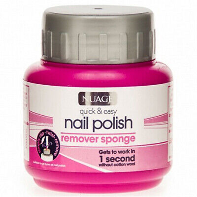 Quick And Easy Nail Polish Remover 1 Second Sponge Pot - Acetone Free