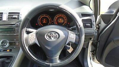 Universal Black Perforated Pu Leather Car Steering Wheel Cover