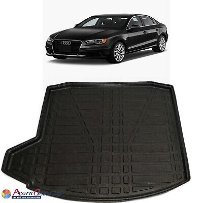 Audi A3 Saloon Rubber Boot Mat Liner Tailored Fitted Floor Protector 2012-