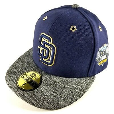 5f097b09980857 San Diego Padres New Era 59FIFTY SZ 7 Baseball Hat 2016 MLB All Star Game  Patch