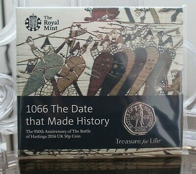 2016 Battle of Hastings 950th Anniv. UK 50p Fifty Pence - BU - BUnc - Coin Pack