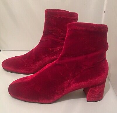 ac72ccd771d ZARA RED ANKLE Boots Size 6 - £20.00 | PicClick UK