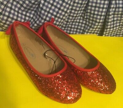 a4ebddf75 Ruby Red Glitter Slippers The Wizard of Oz Dorothy Child Size 2 New Resort  Shoes