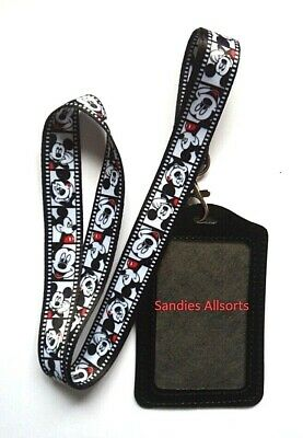 Disney Mickey Mouse Lanyard Neck Strap + ID Credit Card /  Card Holder