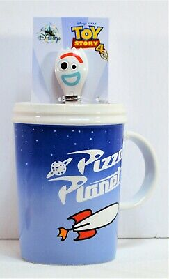 Disney Parks Exclusive 2019 Pixar Toy Story 4 Forky Coffee Mug Cup & Stirrer NEW