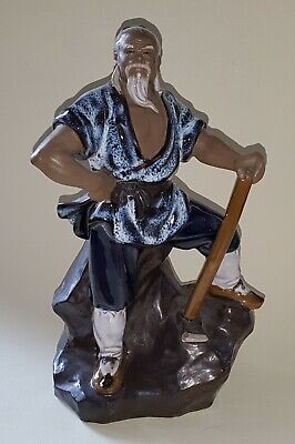 Chinese vintage Victorian oriental antique large miner figurine ornament