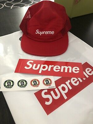 529ad713 NWT SUPREME NY Red Box Logo Napped Distressed Canvas Camp Cap Hat ...