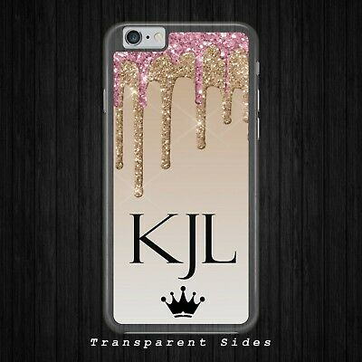 huge selection of 29bd1 a5c21 PERSONALISED DRIPPING GLITTER MONOGRAM phone case iphone samsung huawei  cover