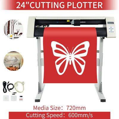 """24"""" Vinyl Sign Cutter with Contour Cut Function 600mm Cutters USB US Stock"""