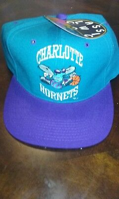 0bb72cd687bc53 NWT Vintage Charlotte Hornets Snapback Hat G Cap Wool NBA Basketball Buzz  City