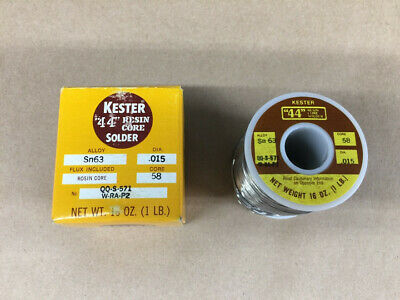Kester 44 Resin Core Solder Alloy SN 63 DIA .015 Core 58