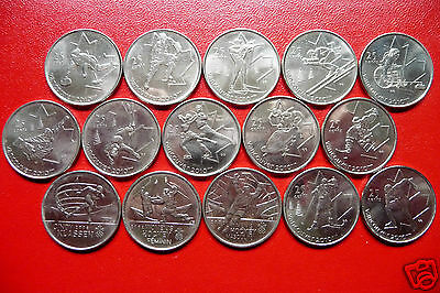 15 Canada Year 2007, 2008, 2009 Olympic 25 Cents - Complete Set