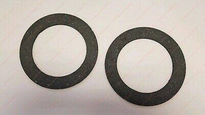 """2 PTO Clutch Friction Discs 6.50"""" OD X 4.50"""" ID X .128"""" Thick for Rotary Cutter"""