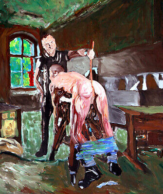 Spanking Ass Impressionist Man Impressionism Gay Interest Punishment Painting