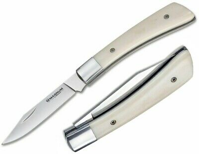 """Boker Juliet Folding Knife 3"""" 440A Stainless Blade White Smooth Bone Handle"""