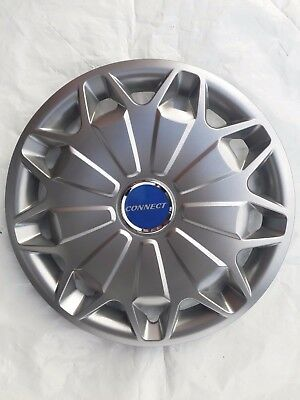 """15"""" Wheel Trims To Fit Ford Transit Connect 2002 - Set Of 4 Customised X 4 Badge"""