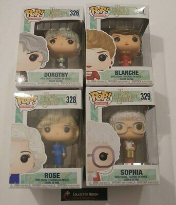 Funko Pop! Television 326-329 The Golden Girls Dorothy Blanche Rose Sophia Pop
