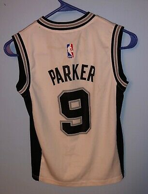 28e4680192c San Antonio Spurs NBA #9 Tony Parker Adidas Basketball Jersey- Youth Size  Small