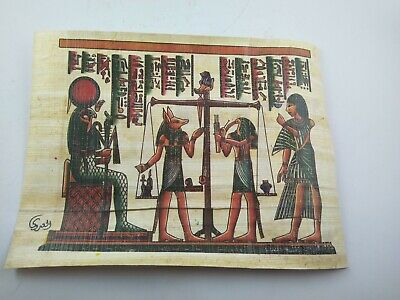 3 RARE ANCIENT EGYPTIAN MODERN ANTIQUE Pharaoh Papyrus Replica