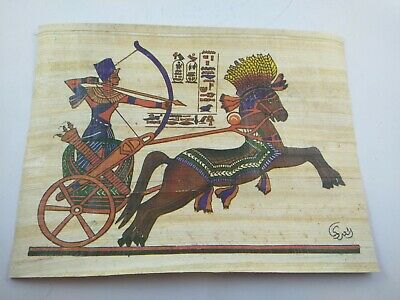 2 PAPYRUS RARE ANCIENT EGYPTIAN MODERN ANTIQUE Pharaoh Papyrus Replica