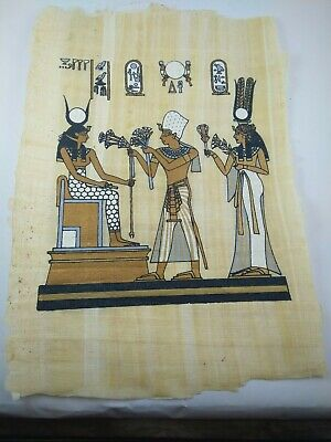 3 MEDIUM RARE ANCIENT EGYPTIAN MODERN ANTIQUE Pharaoh Papyrus Replica