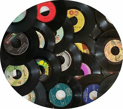 100 45 Rpm Lot Of Vinyl 7 Records For Arts Crafts Party