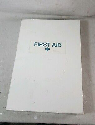 Large Wall Mount Metal First Aid Kit White 16 x 11 Full