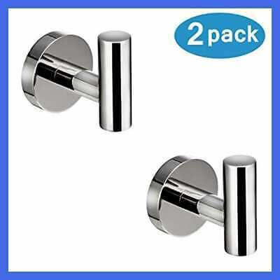 Polished Chrome Towel Coat Hooks SUS304 Stainless Steel Bathroom Clothes Garage