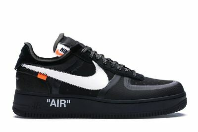 Off White Air Force 1 Low Black Sneakers Shoes Man Woman AO4606-001